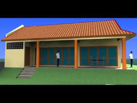 Visual 3D Rekabentuk Ubahsuai Rumah Berkembar 1 Tingkat Seksyen 8 Shah Alam