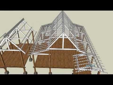 Senibina melayu tradisional construction animation