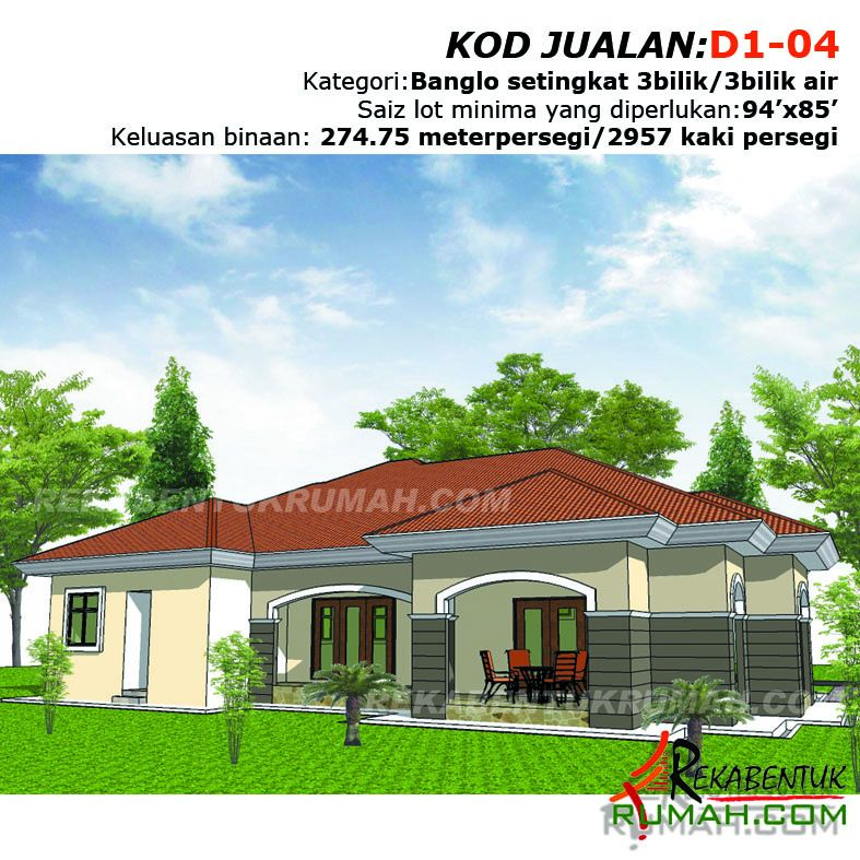 Pelan Dan Reka Bentuk Rumah Bermanfaat Design Rumah D1 04 3b 3ba 79 X62 2957 Kaki Persegi