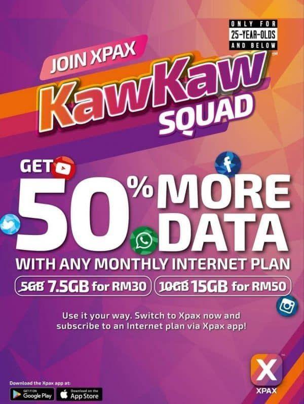 Pelan Internet Untuk Rumah Hebat Data Kawkaw Students Get More Data with Xpax Plan