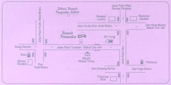 Peta ke Rumah Pengantin Perempuan