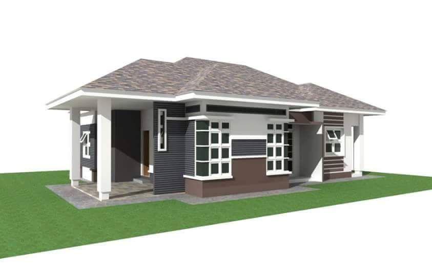 Pelan Lantai Rumah Banglo 3 Bilik Penting 1 Unit Banglo Akan Bina Di Bt30 Jambu Lawa Machang Lokasi