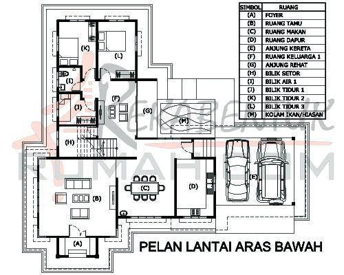 Pelan Lantai Rumah Banglo 4 Bilik Bermanfaat Design Rumah 6 Bilik Archives Rekabentuk