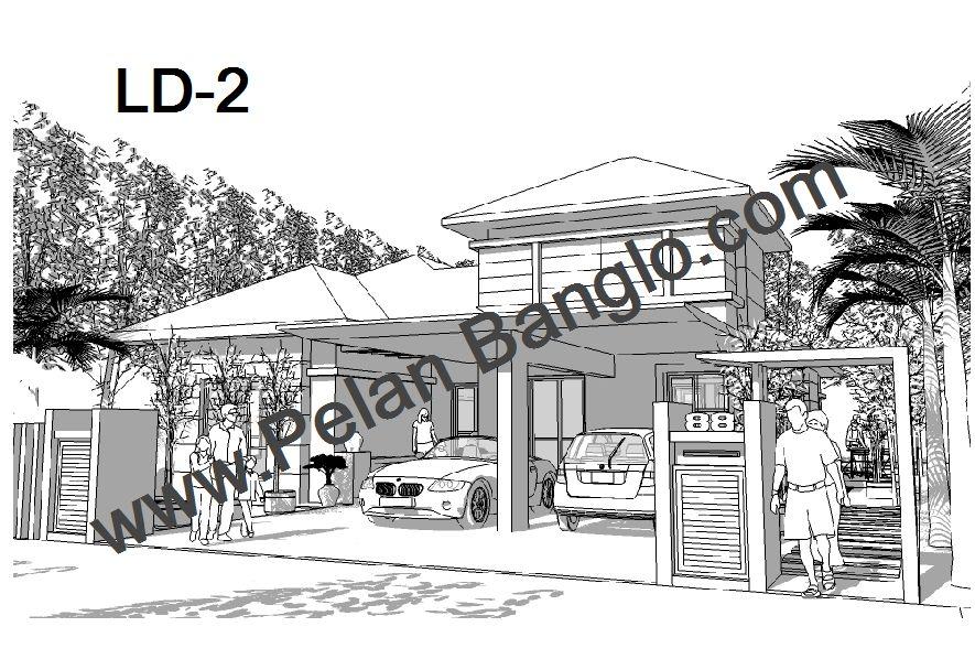 Pelan Rumah Banglo LD 3 5 Bilik Setingkat
