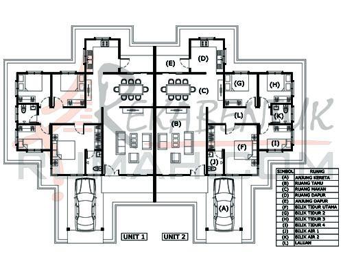 Pelan Lantai Rumah Berkembar Setingkat Meletup Design Rumah Semi D Setingkat Archives Rekabentuk