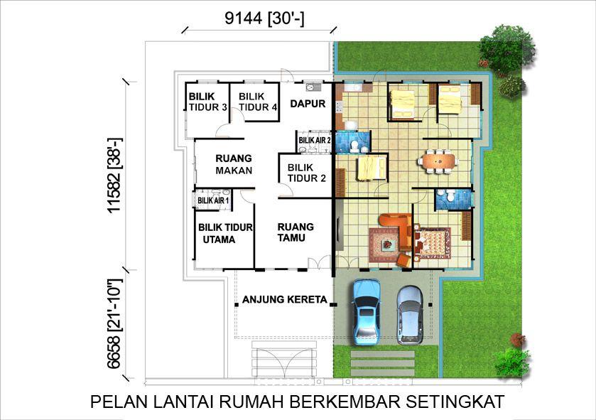 Pelan Lantai Rumah Berkembar Setingkat Penting Tj Group Tj Civil & Structural Contractor Tj Land Tj Teoh