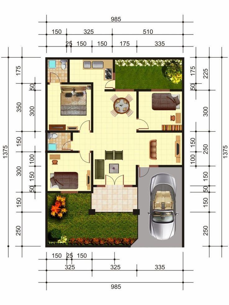 Pelan Lantai Rumah Corner Lot Terbaik Pelan Simple Tapi Cantik