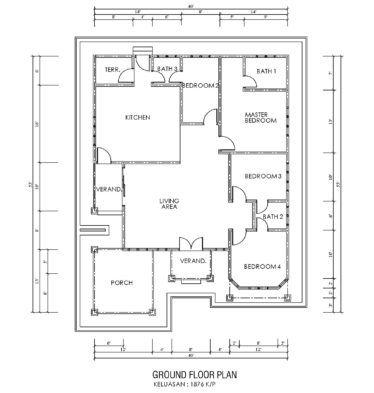 Pelan Lantai Rumah Idaman Bermanfaat Portfolio 53 – Mahligai Idaman