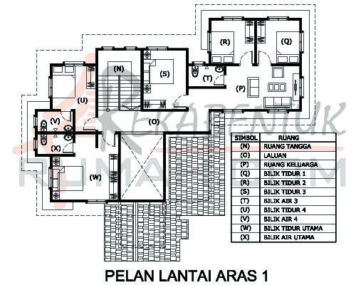 DESIGN RUMAH D2 06 6 bilik 5 bilik air 57 x49′ – 2798 kaki persegi