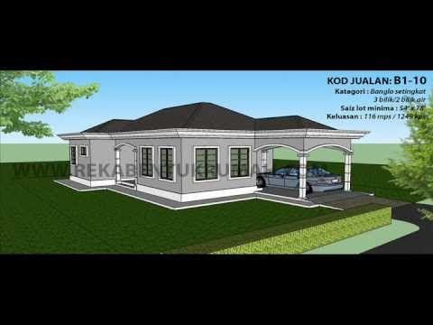 Pelan Lantai Rumah Kampung Modern Power Pelan B1 10 Pelan Banglo Setingkat 3 Bilik 2 Bilik