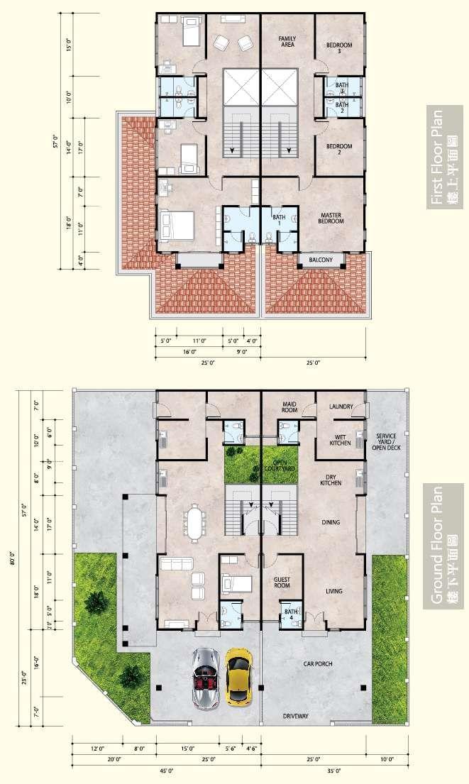 Pelan Lantai Rumah Kedai 2 Tingkat Baik Phase 5 Semi Detached House for Sale Ipoh
