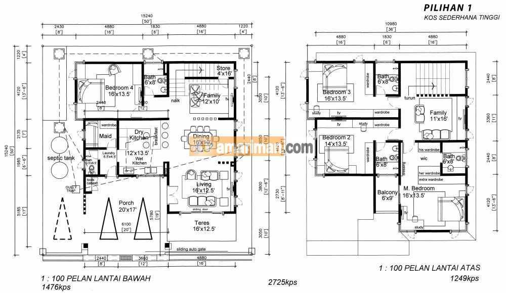 Pelan Lantai Rumah Kedai 2 Tingkat Bernilai Pelan Rumah & Bangunan – Amar Iman Development Sdn Bhd
