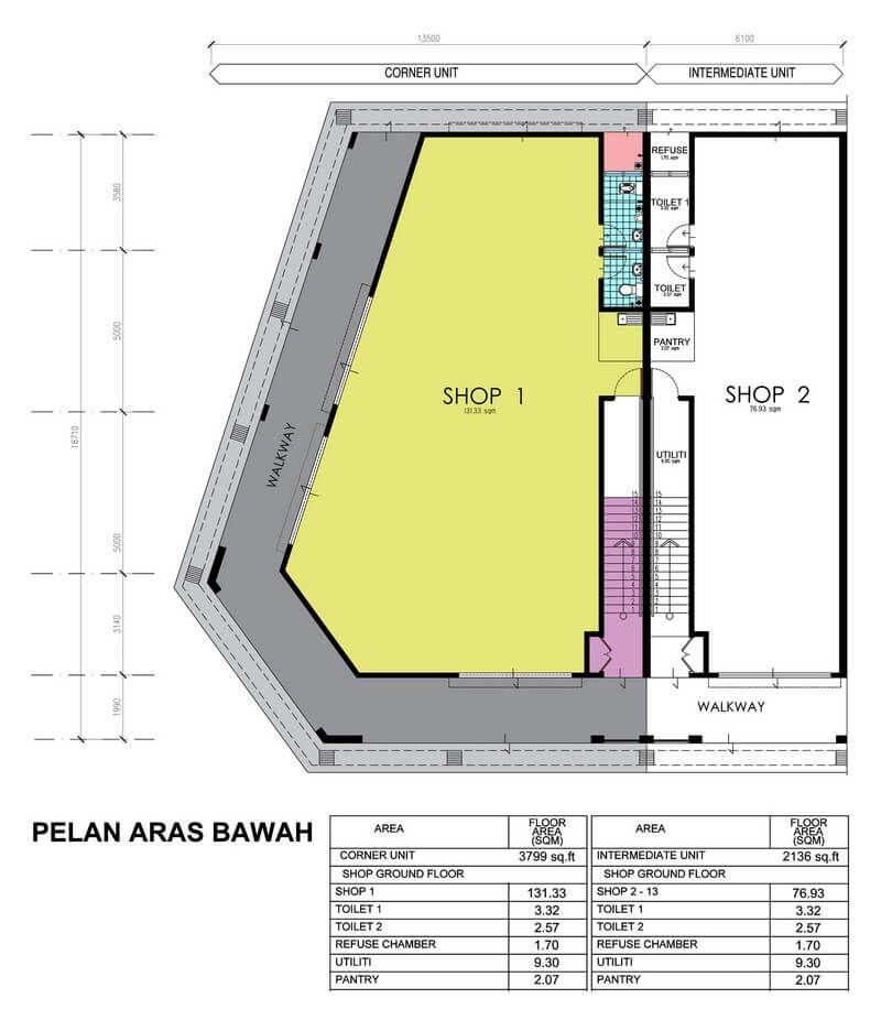 Pelan Lantai Rumah Kedai 2 Tingkat Meletup E Idaman – Spnb Idaman Sdn Bhd