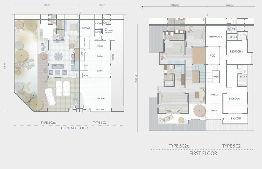 Adda Heights Grey Stones Type 5C2 5C2c 5C2e Floor Plan