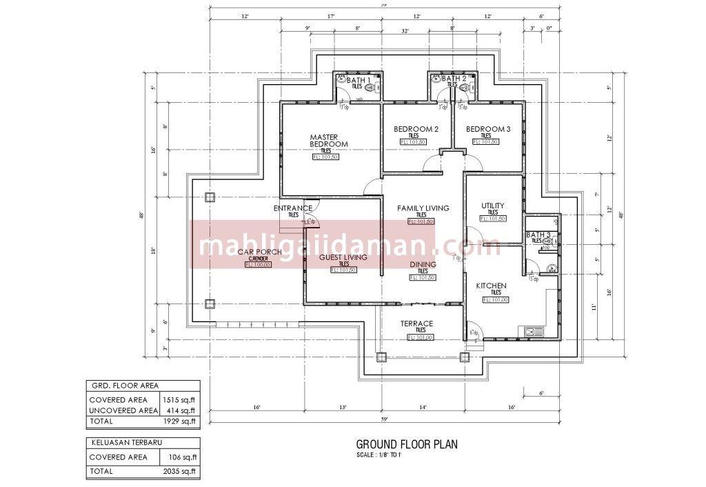 Zoom Gambar Rumah Sebenar left right Pelan Lantai & Rumah
