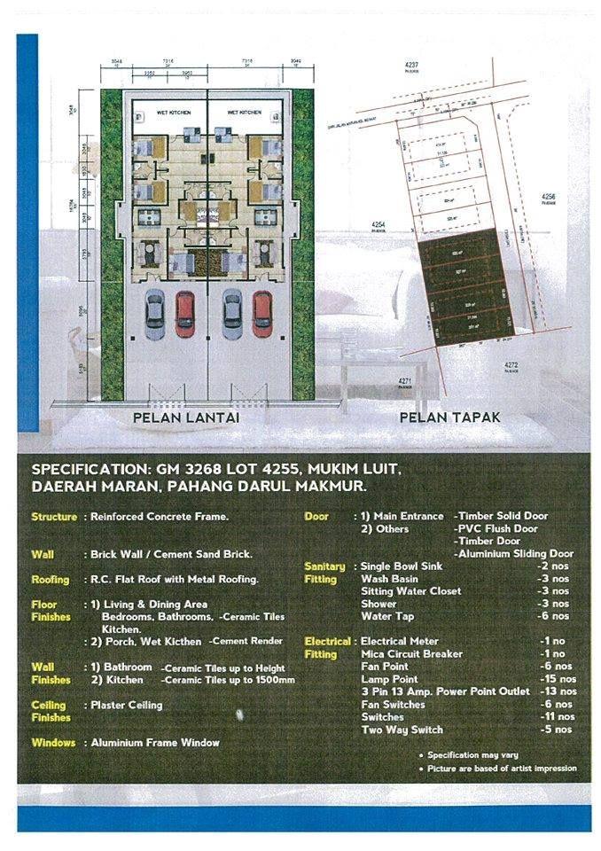 Pelan Lantai Rumah Pahang Power I Maju Development Sdn Bhd