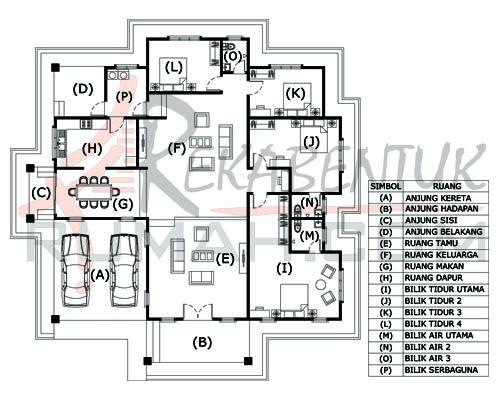 DESIGN RUMAH D1 02 4b 3ba 61 x64′ – 2995 kaki persegi