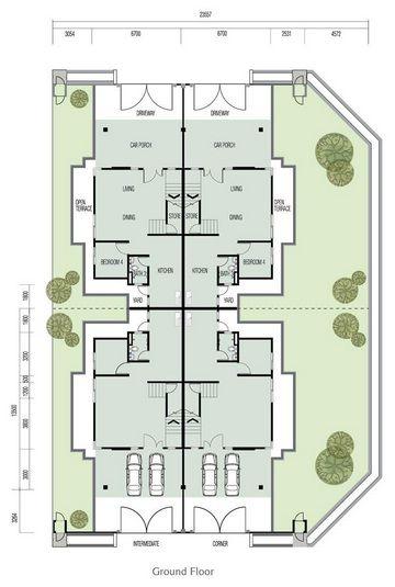 Pelan Lantai Rumah Semi D Menarik Bina Sendiri Rumah Banglo
