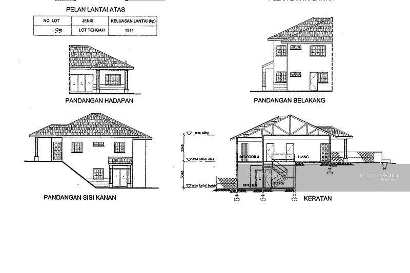 Pelan Lantai Rumah Semi D Penting 1 5 Storey Semi D In Karak Pahang with Private Garden