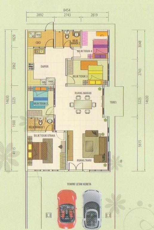 Pelan Lantai Rumah Semi D Terbaik Projek Hartanah Di Malaysia sold Out Rumah Berkembar Setingkat