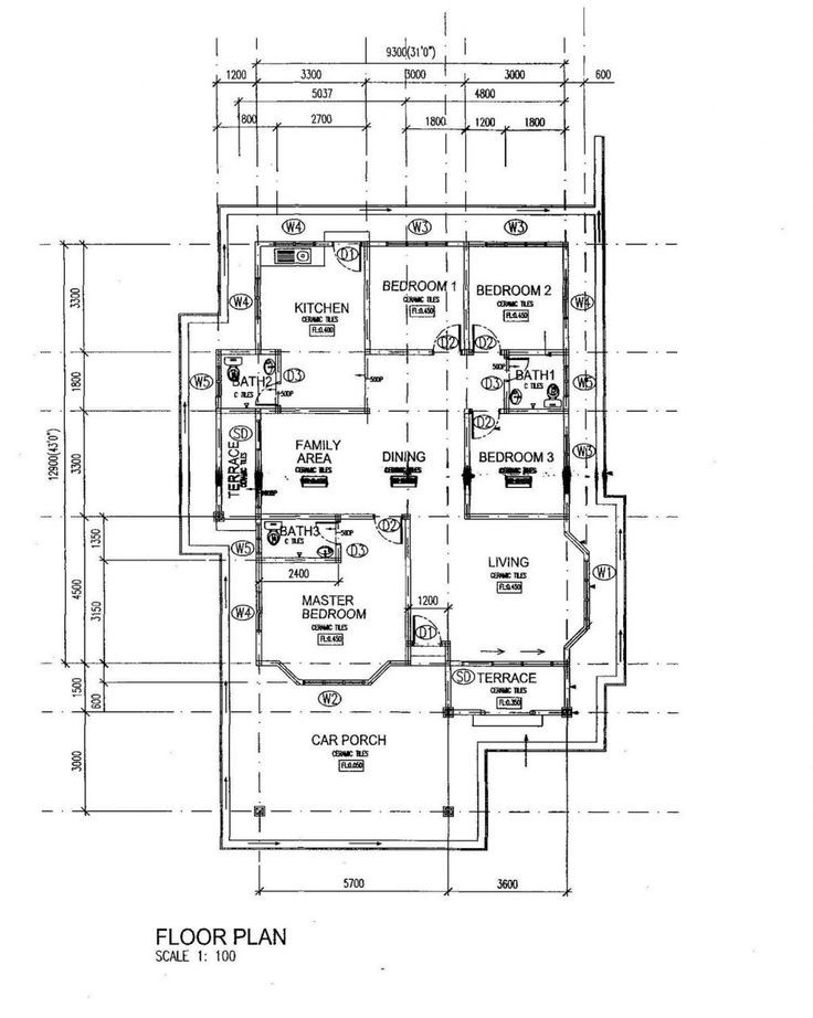 Pelan Lantai Rumah Teres 2 Tingkat Bernilai Pelan Banglo Setingkat 4 Bilik House In 2018