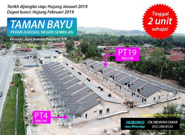 Rumah teres setingkat Taman Bayu di Pekan Juasseh telah mula dijual Unit terhad untuk bumiputera sahaja Tanah Rezab Melayu berpegangan bebas