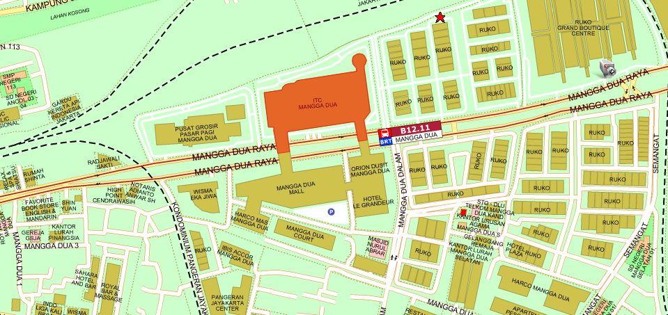 Pelan Lokasi Rumah Pengantin Penting Itc Mangga Dua Mall
