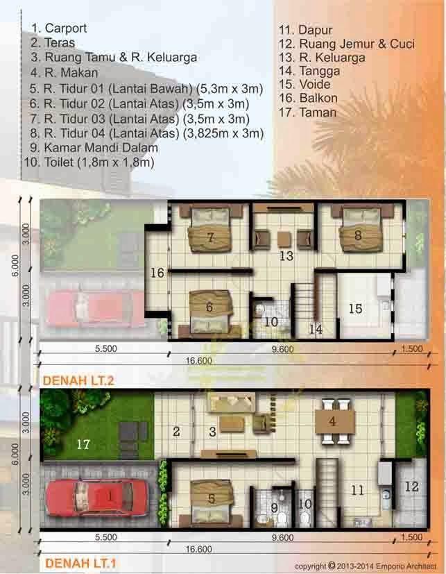 Desain Rumah Minimalis Luas Tanah 100m2 1 Lantai dan 2 Lantai Place called home Pinterest