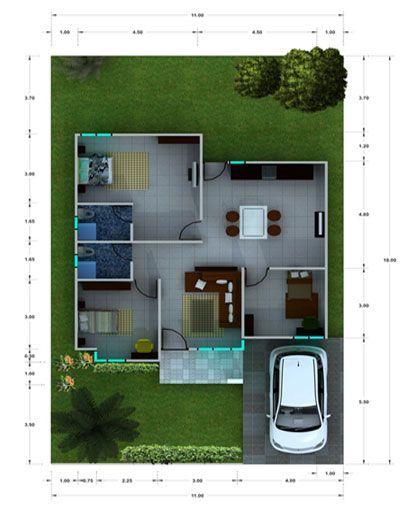Pelan Model Rumah Power Desain Rumah Mungil Minimalis Modern Sketch My Home