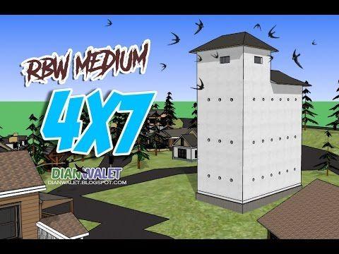 Desain Rumah Burung Walet RBW 4x7 3 Lantai Simpel Desain