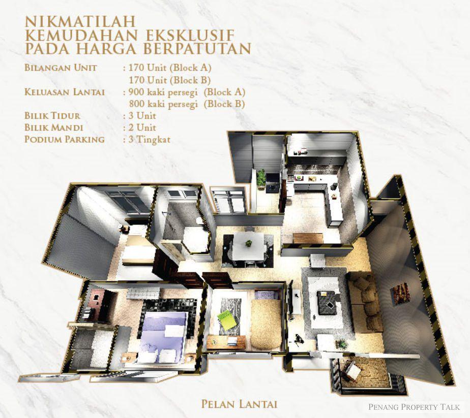 casa anggun floorplan