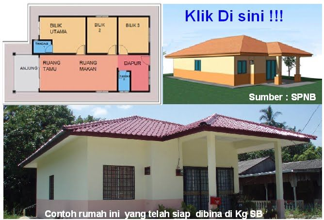 Info Program Rumah Mesra Rakyat Banglo Setingkat 3 Bilik keluasan 700 866 kp