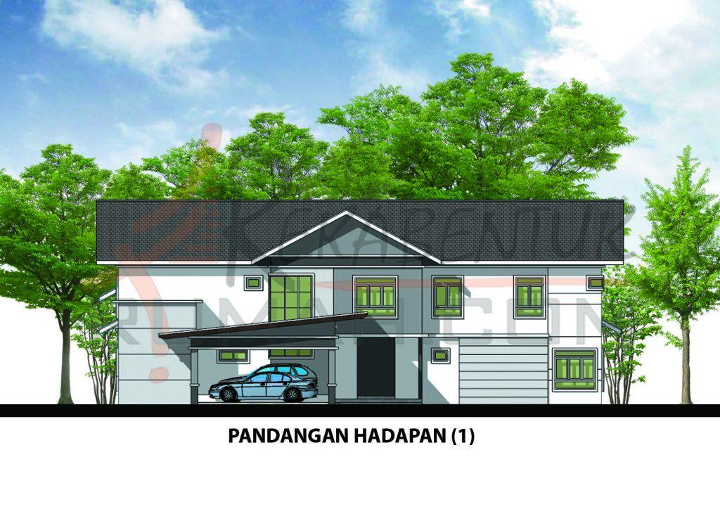 Pelan Rumah 1500 Kaki Persegi Power Design Rumah E2 07 5 Bilik 4 Bilik Air 71 X94 6154 Kaki