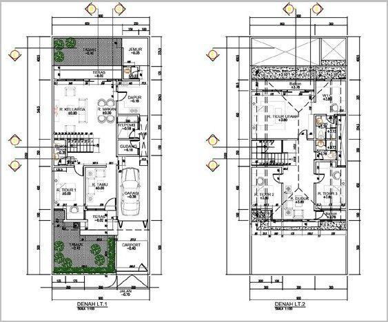 Pelan Rumah 1700 Kaki Persegi Penting Gambar Denah Rumah Minimalis 2 Lantai Modern 10