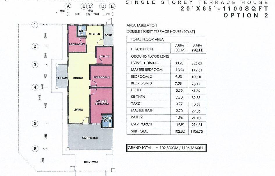 Pelan Rumah 1800 Kaki Persegi Hebat Laman Hijau Seri Rumah 1195 Unit Rumah Teres Di Gemas Negeri