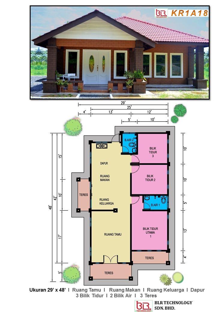 Banglo ey yang menarik ini menawarkan 3 bilik tidur 2 bilik air Kontraktor terpilih kami sedia untuk membina ini untuk anda