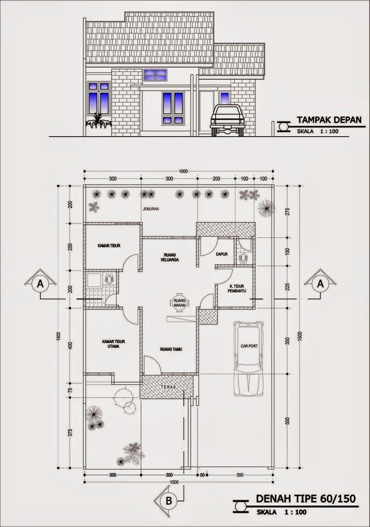 Pelan Rumah 20 X 30 Bermanfaat Inilah Gambar Denah Desain Rumah Minimalis Dengan 4 Kamar Tidur