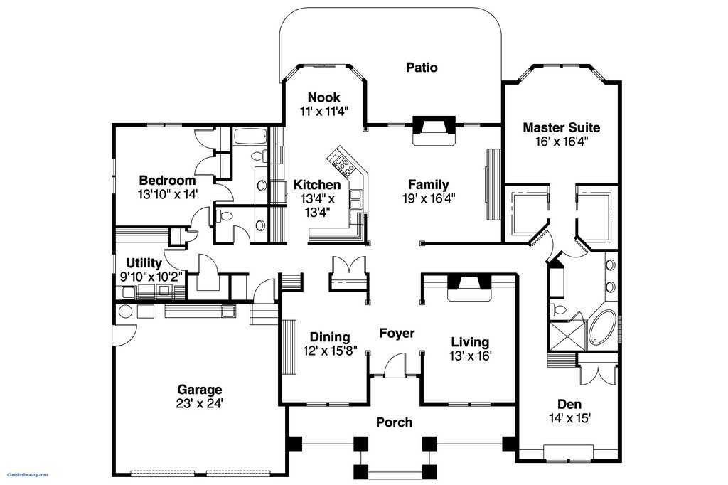 House Plans Designs Best Dazzling Free House Floor Plans 39 Plan Design Ranch Unique 0d