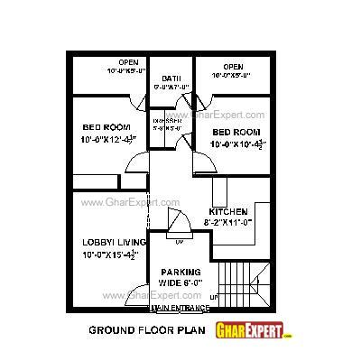 Pelan Rumah 20 X 60 Meletup House Plan for 28 Feet by 35 Feet Plot Plot Size 109 Square Yards