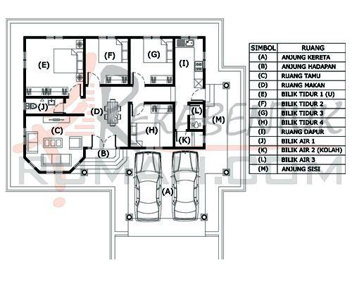 Pelan Rumah 20 X 60 Terbaik Design Rumah C1 20 4b 3ba 45 X40 1457 Kaki Persegi