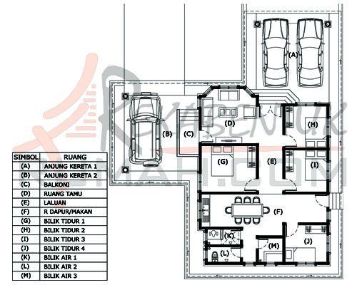 Pelan Rumah 3 Bilik 3 Bilik Air Hebat Design Rumah 4 Bilik Archives Page 2 Of 2 Rekabentuk