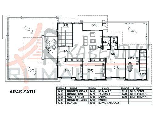 DESIGN RUMAH E2 14 6 bilik 5 bilik air 41 x92′ – 5339 kaki persegi