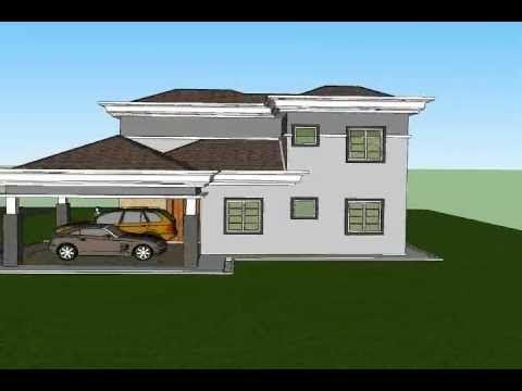 Pelan Rumah 3 Bilik 3d Hebat Pelan Rumah C2 07 Pelan Rumah Banglo 2 Tingkat 4 Bilik 3 Bilik Air