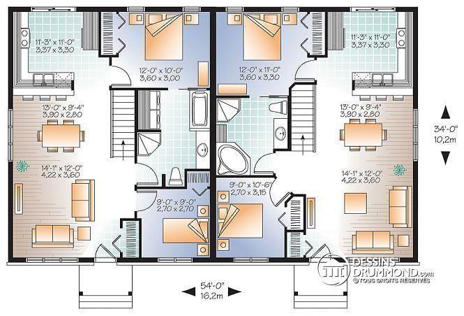 Rez de chaussée Jumelé champªtre 2 chambres intérieur convivial 2 options