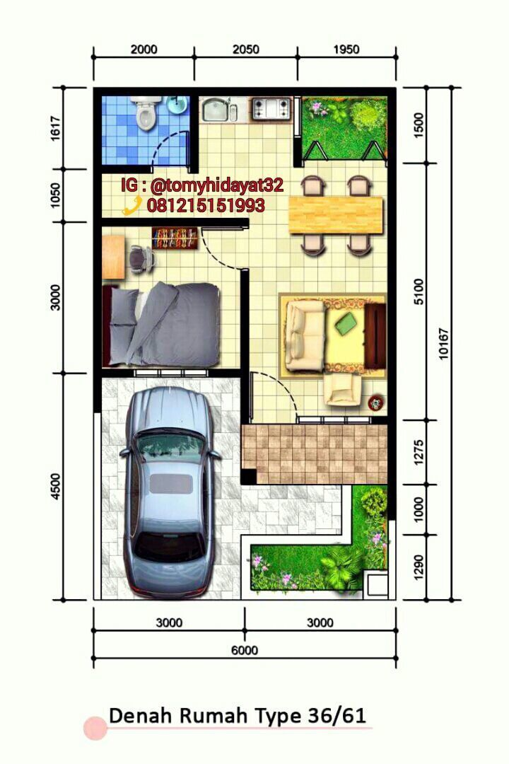 Pelan Rumah 30 X 40 Menarik Home Plan Type 36 61 My Design In 2018 Pinterest