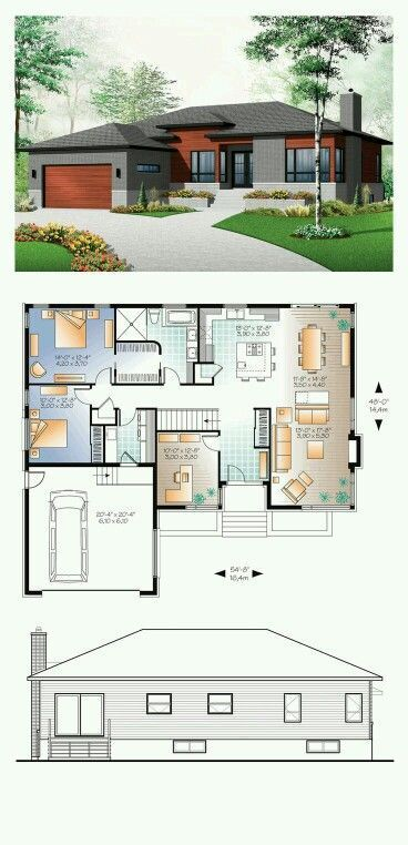 3 bedrooms and 1 bathroom