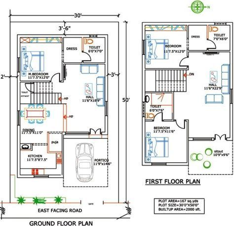 house plans india Google Search 30x50 House Plans Dream House Plans Small House