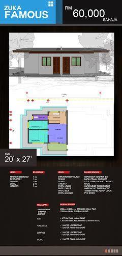 Pelan Rumah 30 X 70 Hebat Rumah Zuka Properties Reka Bentuk Zuka