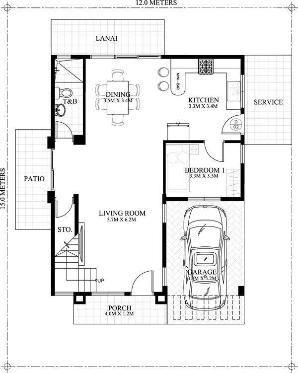 Pelan Rumah 30×40 Berguna Carlo is A 4 Bedroom 2 Story House Floor Plan that Can Be Built In A