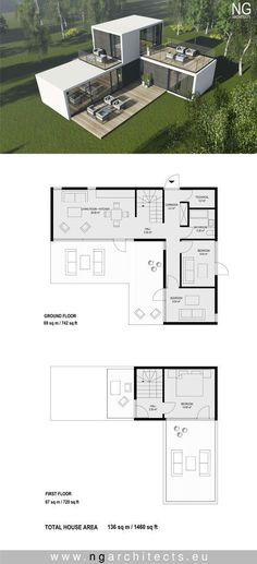 modular house plan villa Spirit designed by NG architects Small House